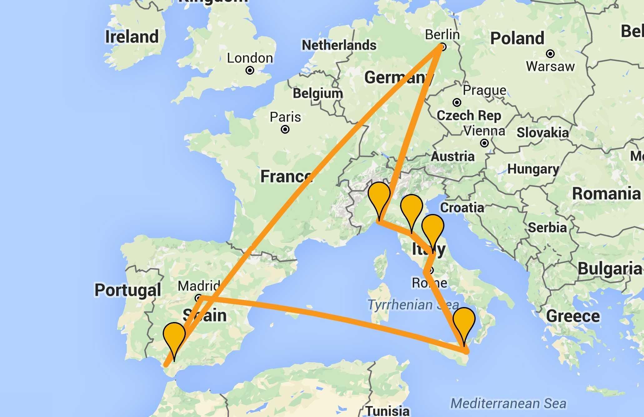 Die oliven%c3%b6lreise karte