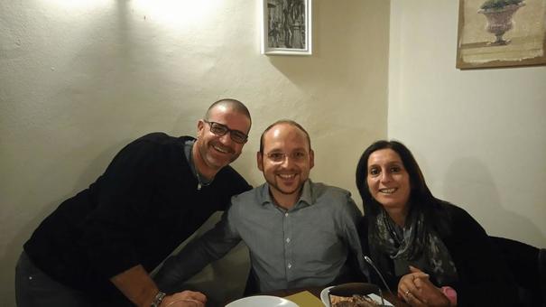Samuele, Federica und Arkadius