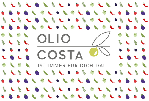 Olio Costa Logo und Gemüse