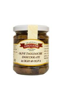 Taggiasca olive in oliven%c3%b6l eingelegt