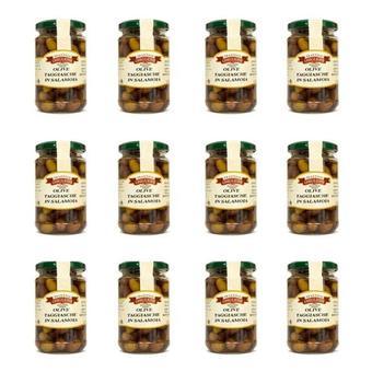Big taggiasca oliven in salzlake sparpaket 12 glaeser